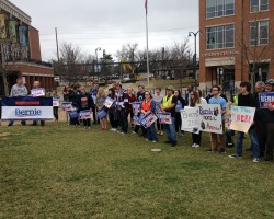 McLean County For Bernie Marches To Appeal Voters