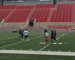 Football Seniors Participate in Illinois State Pro Day