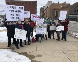 DACA Protesters fill Illinois State University Quad